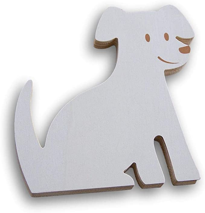 6.75 x 6.75 Inches Craft Supply Wood Dog Stand-Up Plaque