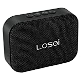 Bluetooth Speakers, Losei V4.2 Portable Stereo Wireless Speaker Mini Fabric Sound with Build-in Mic and Rechargeable Battery for iPhone iPad Samsung and Most Androids Phones (Black)