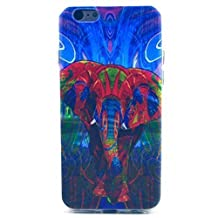 For iPhone 6 Case, iPhone 6s Case, Let it be Free TPU Silicone Gel Soft Bumper Clear Case Cover for Iphone 6 6S (Colorful Elephant)