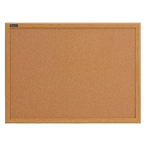 Quartet Cork Bulletin Board, 17 x 23 Inches, Oak Finish Frame (85212B) by Quartet