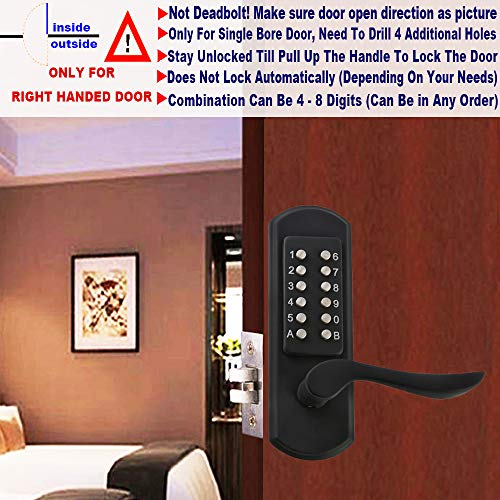 Keyless Door Lock Mechanical Push Button Lock Digital Code