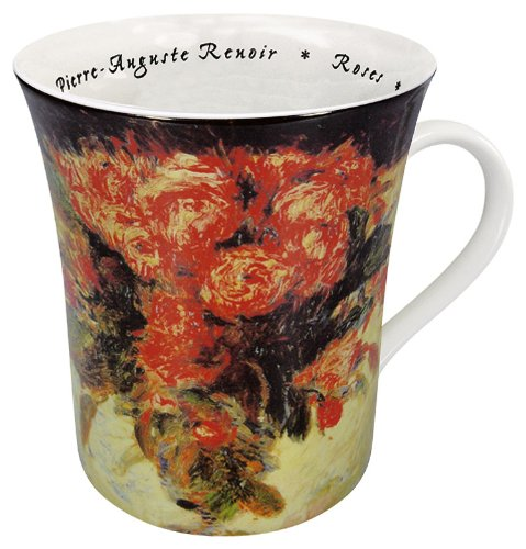 Konitz 12-Ounce Les Fleurs Chez Les Peintres Renoir Mugs, Assorted, Set of 4