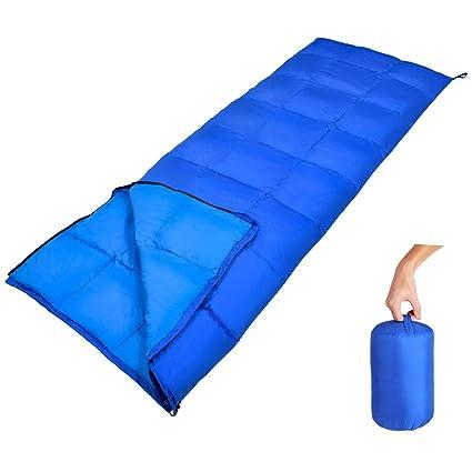 GEERTOP Saco de dormir de plumas ligero y cómodo en 10ºC / 50ºF con bolsa de