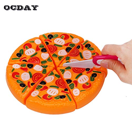 Best Quality - Kitchen Toys - Creative Girl Kitchen Pretend Play Mini Food Kids Toys Cutting Pizza Pie Toy Fast Food Party Cooking Early Education Toys - by SeedWorld - 1 PCs