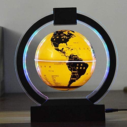 Esfera Mapa Color LED Luz 6 Pulgadas Globo Flotante Anti-Gravedad ...