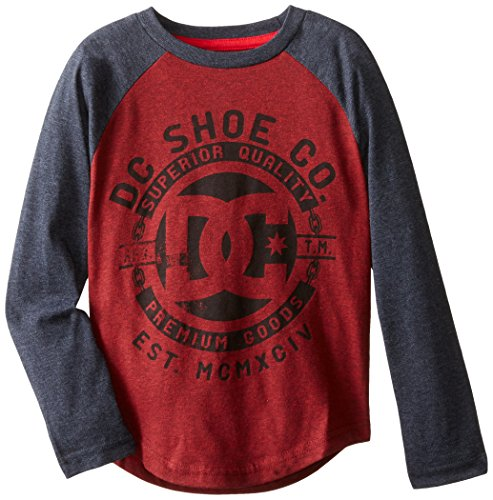 DC Little Boys' Chain-Graphic Raglan, Deep Red, 6
