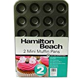 Hamilton Beach Set of 2 Nonstick Mini Muffin Pans-04481