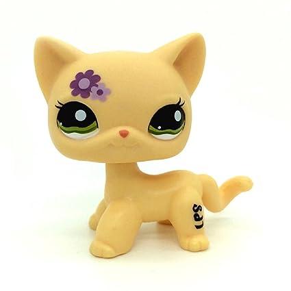 Amazoncom Zad Littlest Pet Shop Rare Short Hair Cat Kitty Yellow