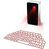 ShowMe(TM) Virtual Laser Projection Wireless Keyboards and Mouse Combo for iPad iPhone Android Smart Phones with Voice Broadcast Bluetooth mini Speaker
