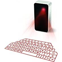 Virtual keyboard, ShowMe(TM) Laser Projection Bluetooth Wireless Keyboard for iPad iPhone Android Smart Phones with Voice Broadcast mini Speaker