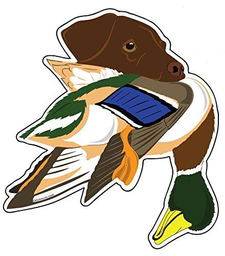 - Mountain Creek Anglers Chocolate Labrador with Mallard Duck Sticker Decal 4.5