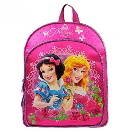 Disney Pink Mochila Elegance   Princesas Metálico del Brillo: Amazon.es: Juguetes y juegos