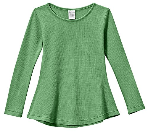 (City Threads Little Girls' Thermal Long Sleeve Tunic Shirt Tee Dress for School Party Play, Elf,)
