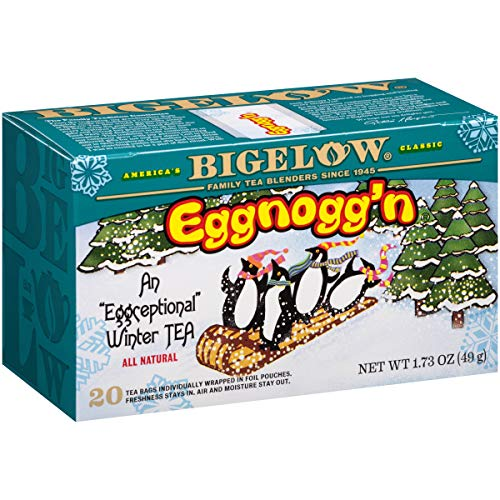 Bigelow Eggnogg'n Tea 20 count Boxes (Pack of 6), 120 Tea Bags Total.  Caffeinated Individual Black Tea Bags, for Hot Tea or Iced Tea, Drink Plain or Sweetened with Honey or Sugar -