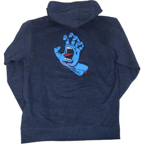 Santa Cruz Men's Screaming Hand Pullover Hooded Sweatshirt Small Navy Heather (Santa Hoodie)