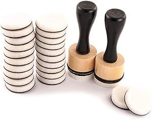 Autone Mini Ink Blending Tool Blender Set for Scrapbooking Craft, 2pcs Handles + 24pcs Ink Round Blending Replacement Foams
