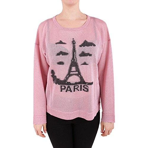 Twin-Set Femme PS83Y302119 Rose Viscose Sweatshirt