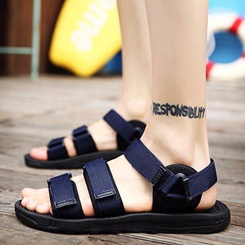 Sommer Das neue Strandschuhe Männer Schuhe Sandalen Trendige Hausschuhe Trend Männer Lochsandalen Rutschfest ,blau,US=7?UK=6.5,EU=40?CN=40