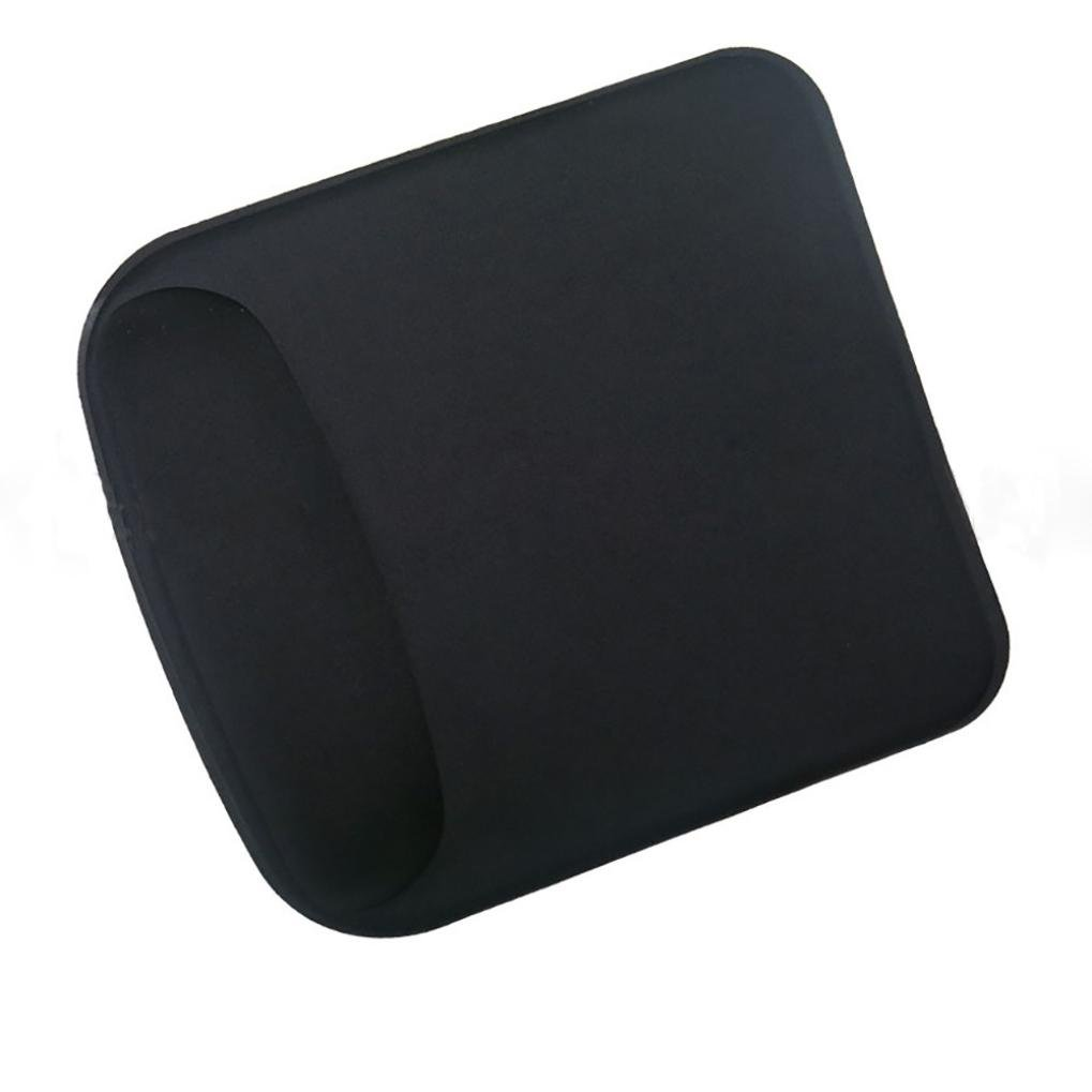 Tuscom Gel Mouse Pad,8.27×9.06 inch,Anti Slip Wrist Rest Support Game Mice Mat for Computer PC Laptop (Black)