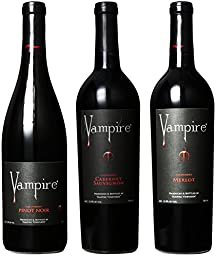 Vampire Vineyards Blood Red Mixed Pack Wines, 3 x 750 mL