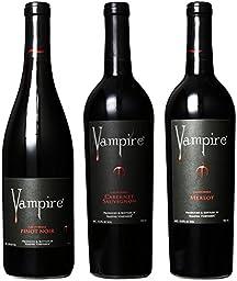 Vampire Vineyards Blood Red Mixed Pack Wines, 3 x 750 mL