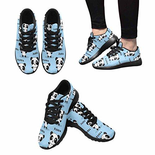 Interestprint Mujeres Jogging Running Sneaker Ligero Go Easy Walking Comfort Deportes Zapatos Deportivos Cute Panda Multi 1
