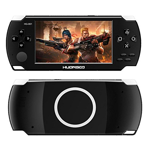HuonGoo Handheld Game Console, Handheld Video Game 4.3 inch Screen 368 Classic Games,Retro Game Console Can Play on TV, Good Gifts for Kids to Adult. (Black) by HuonGoo (Image #2)