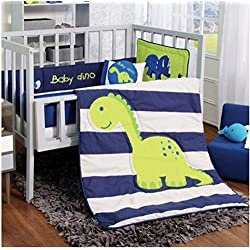 Baby Dinosaurs set Boy's Bedding Nursery 6 Pieces