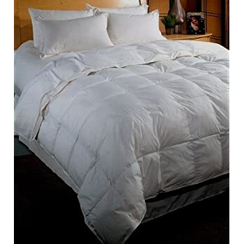 thread count baffle box light weight goose down comforter white queen