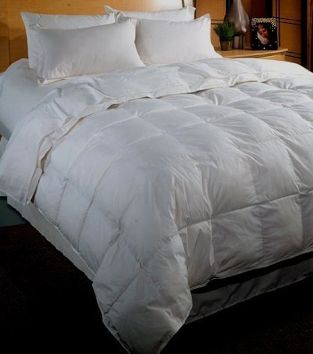 Royal Hotel Collection 500 Thread Count Egyptian Cotton White Goose Down Comforter King/Cal King