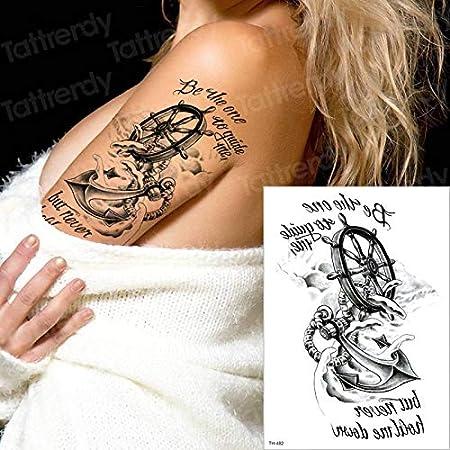 Tatuaje Temporal Tatuaje Pirata Ancla brújula Tatuaje de Larga ...