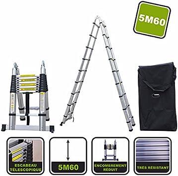 Escalera telescópica de 5,6 m Silex® + funda de transporte: Amazon.es: Bricolaje y herramientas