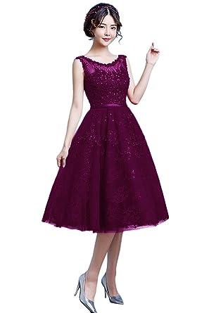 76dc0ca1ca vimans Short Elegant Scoop Beaded Lace Ball Gown Wedding Dresses ...