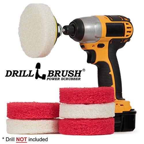 Bathroom - Cleaning Supplies - Drill Brush Power Scrubber Pads - Shower -
