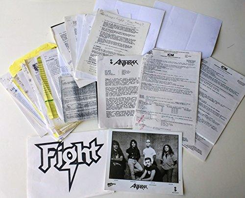 (Anthrax Original Concert Contract w/Fight - 1994 Tulsa, OK)