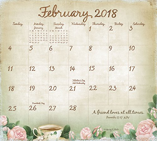 Legacy Publishing Group 2018 Magnetic Calendar Pad with Scripture, Faithful Heart and Home