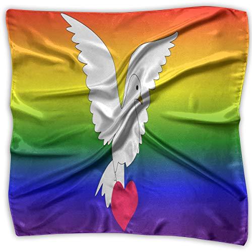 Square Scarf Clipart - Dove Of Peace And Love Neckerchief Unisex Headband Tie For Man
