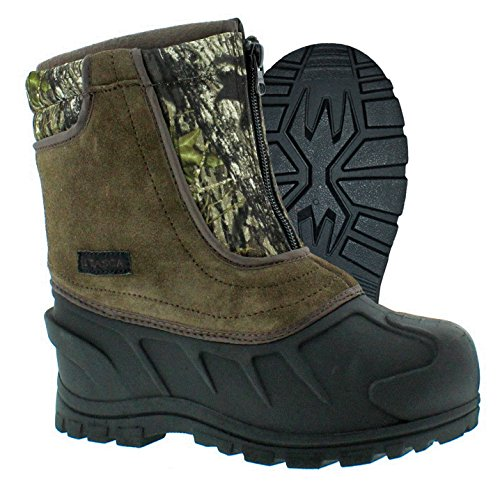Itasca Unisex Youth Snow Stomper Leather/Nylon Winter Boot, Camouflage, 8.0 Standard US Width US Little Kid ()