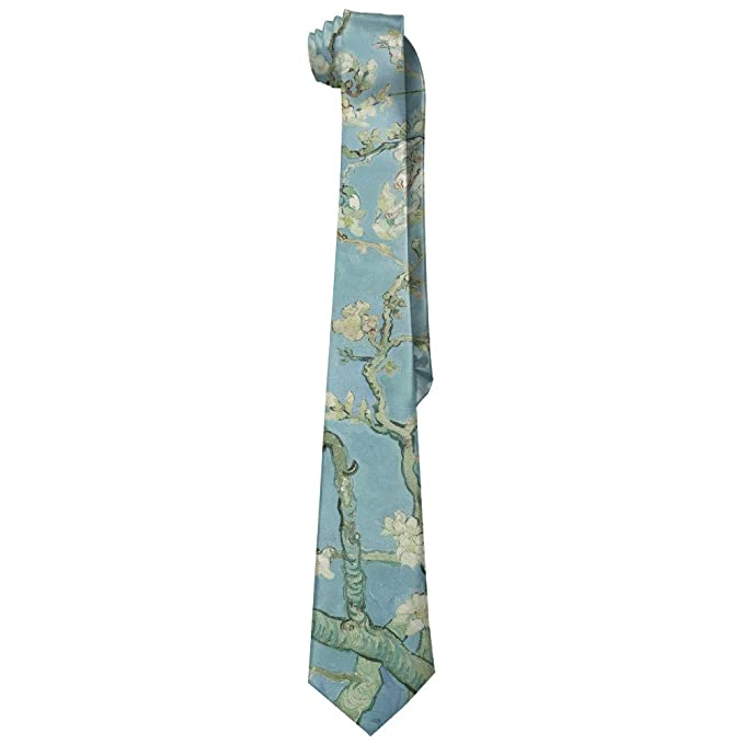 ZQ-SOUTH Men's Van Gogh Almond Blossom Art Casual All Over Skinny Novelty Neck Tie - Gift ideas for artists. gifts for artists who draw. gifts for artists amazon.  gifts for drawing artists. gifts for teenage artists. gifts for professional artists. gifts for artsy friends. best gifts for artists 2018. drawing gifts for adults. gifts for artists who paint.  special gifts for artists. gifts for professional painters. art gifts for her. gifts for art lovers.