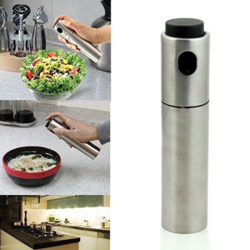 Hommii Stainless Steel Olive Mister Oil Spray Pump Fine Bottle Oil Sprayer Pot Cooking Roast Bake Oil Bottle Tools Oil Dispenser