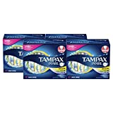 Tampax Pearl Plastic Tampons, Light/Regular/Super Absorbency Multipack, Unscented, 50 Count, 4 Boxes, (Total 200 Count)