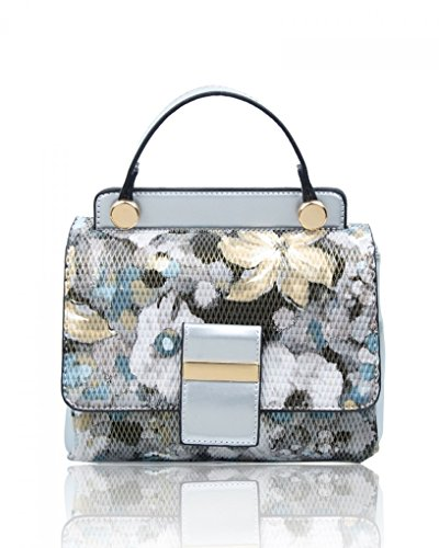 Bags Floral Handbags Body Nice Fashion Ladies Designer Women's Cross Cute FLOWER LeahWard SILVER 136 xtvYwq