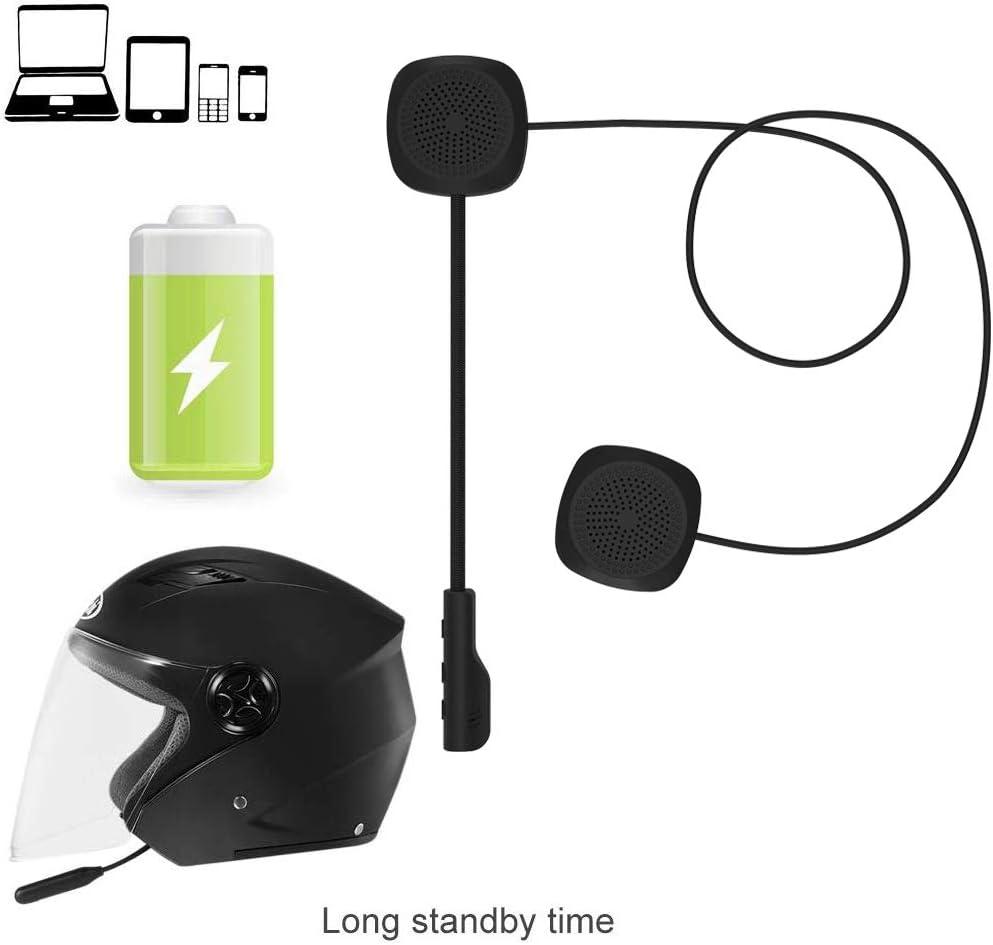 2Pcs Motorcycle Helmet BT Headset Headphone Speakers Support Hands-free Calling