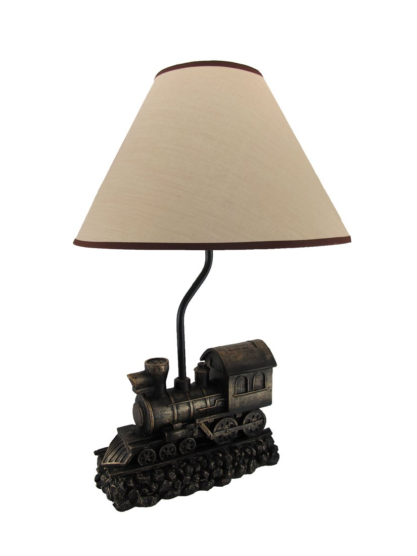 Light in the tunnel steam train engine table lamp with shade light in the tunnel steam train engine table lamp with shade amazon arubaitofo Image collections