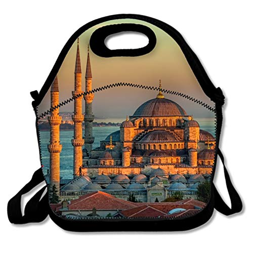 - Insulated Waterproof Lunch Tote, Easy to Carry to School, Office, Picnic - Sultan Ahmed Mosque Turkey Istanbul Sunrise