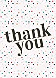 Thank You Cards - Polka dots + White envelopes - Suitable for All Occasions - Pack of 10
