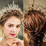 Catery Silver Baroque Crowns and Tiaras Crystal