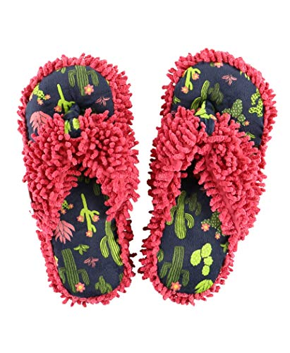 Stuck in Bed Spa Flip Flop Fuzzy Slippers by LazyOne   Cute Design Fuzzy Thong Slippers (L/XL)
