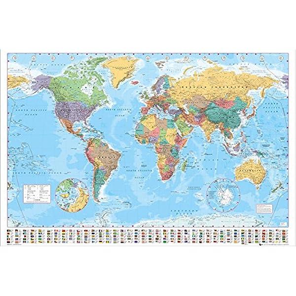 GB eye LTD, Mapa del Mundo, Politico, Maxi Poster, 61 x 91,5 cm: Amazon.es: Hogar