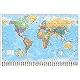 "GB eye ""World Map, 2015"" Maxi Poster, Multi-Colour, 61 x 91.5 cm"